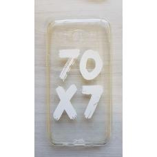 Capinha para celular - Samsung J5 J500 - 70x7 (transparente) branca