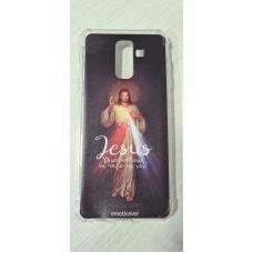 Capinha para celular - Samsung J8 / A6 Plus - R 66 - Jesus Misericordioso
