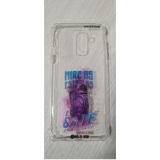 Capinha para celular - Samsung J8 / A6 Plus - Rosa de Saron 40 - Mire as Estrelas
