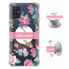 Kit Capinha com Pop-selfie - Flores 06