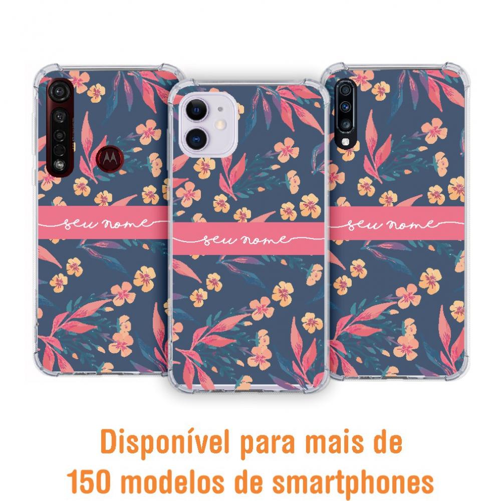 Capinha para celular - Personalizada com nome - Flores 32