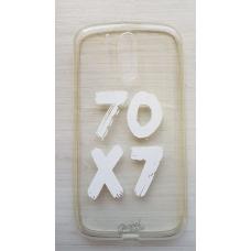 Capinha para celular - Motorola G4 / G4 Plus - 70x7 (transparente) branco
