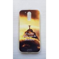 Capinha para celular - Motorola G4 / G4 Plus - A minha força vem do Senhor