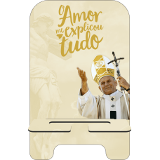 Porta-Celular Personalizado - Religião 129 - O AMOR TUDO ME EXPLICOU - SÃO JOÃO PAULO II