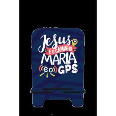 Porta-Celular Personalizado - Religião 144 - JESUS É O CAMINHO, MARIA É O GPS
