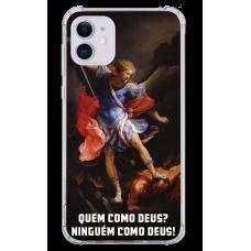 Capinha para celular - Religiosa 221 - São Miguel - Quem como Deus